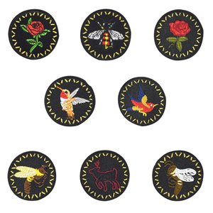 8pcs abeilles correctifs pour vêtements à repasser sur le transfert appliques patchs de fleurs pour Jeans sacs bricolage coudre le badge de broderie