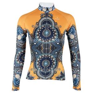 도매 - 뜨거운 판매 !!! Yellow robe Womens Winter cycling jersey 2015 운동복 긴 소매 사이클링웨어 Bicyle jersey 사이클링 의류