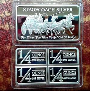 Kuzeybatı Bölgesel Nane 999 Ince Stagecoach Gümüş Bölünebilir Bar Sikke Metal El Sanatları Hediyeler Hiçbir Manyetik 1 OZ Gümüş Bar