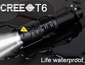 UltraFire Lampe de Poche CREE XML T6 Q5 LED Tactique Portable Mini Torche Zoom 3 Modes Vélo Imperméable à l'eau de bicyclette lumière Tête Lampes de poche Lampe