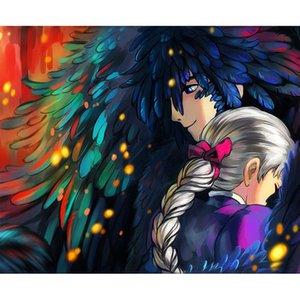Anime Coppia 5D DIY Mosaico Ricamo Pittura Diamante Ricamo Punto Croce Kit Artigianato Decorazione Della Casa Appeso A Parete