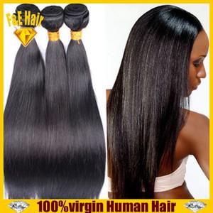 브라질 steaight 4PCS / Lot 페루 말레이시아 인디언 캄보디아 브라질 헤어 번들 6A Virgin Human Hair Weave Extensions 무료 배송