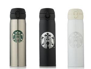Drinkware 450ml 350ml Classico Starbucks Tazza in acciaio inox Starbucks Sucker Cup Starbucks Tazza di caffè Bottiglia lunga Isolamento termico Acqua