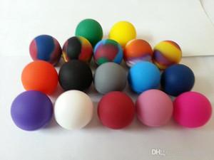 الكرة شكل سيليكون الحاويات الجرار Dab لتركيز الشمع النفط متعدد الألوان 20 قطعة