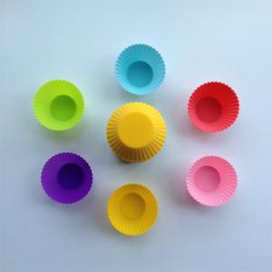 Toptan-10 Adet / grup DIY Mutfak Kek Aracı Bakeware Muffin Bardak Silika Jel Pişirme Kalıp Çapı 7 CM Küçük Kek Formu Çörek Fincan