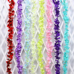 Simulazione fiori finti multi colori di seta artificiale fiore di ortensia stringa per appendere decorazioni di nozze forniture nuovo 22qm BB