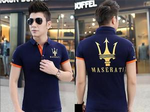Venta al por mayor-2016 MASERATI EXCELENCIA A TRAVÉS DE LA PASIÓN l Camiseta de manga corta Top Algodón Mercedes F1 Hombres camiseta Nuevo estilo DIY Maserati camisa