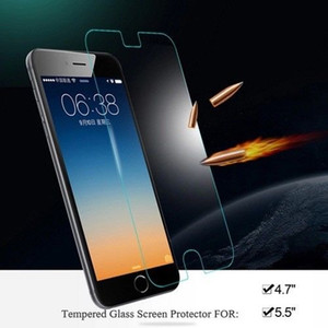 9H 2.5D 0.26mm Tempered Glass Screen Protector for iPhone 7 6s 6 plus 6 5s 4s Sam s7 s6 edge s5 note 7 5 100p no retail package