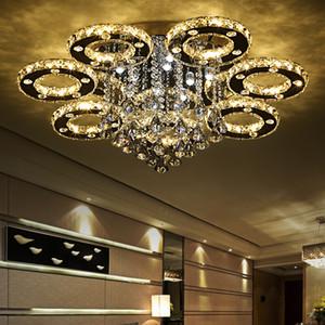موردن الفاخرة ديكور الفن الحديث نمط المنزل مطعم K9 بريق الكريستال الثريا الإضاءة مصابيح ضوء السقف الإضاءة