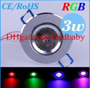 3 Вт 85-265 в RGB светодиодные потолочные настенные светильники встраиваемые лампы светодиодные лампы прожектор downlight + пульт дистанционного управления H4945