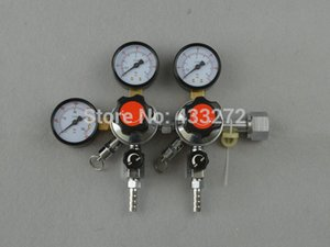 Wholesale-Economical Dual CO2 Gauge Regulator Homebrew CO2 Regulator, 0~3000psi, 0~60psi, CGA320r with 3 8