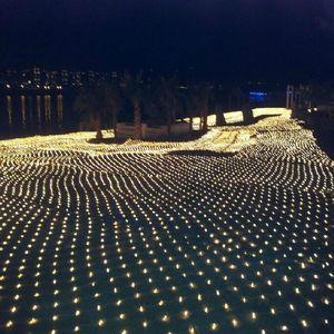 LED extra grande luzes líquidas flash lâmpadas líquidas luz lâmpada impermeável lâmpada 10m * 8m Natal casamento festival decorativo luzes
