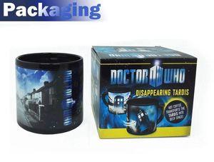New Doctor Who Becher Disappearing tardis Polizei Box Hitze ändern Kaffeetasse Magic Trinkbecher 50 Jahre Abenteuer-Becher Dr. Mysterious
