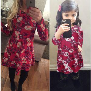 Correspondance Vêtements Mère et Fille Robes de Noël Matching Family Outfits Famille Pyjamas de Noël Robes Femmes Robes Filles 8 Couleurs