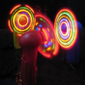 Free shipping 10pcs lot Summer led mini fan colorful small fan flash toy Rave LED Lighted Toys