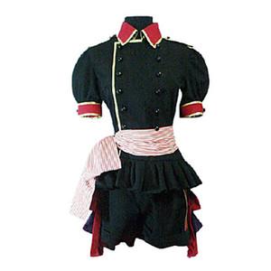 검은 집사 Ciel Phantomhive 검은 색 빨간색 제복 천으로 의상