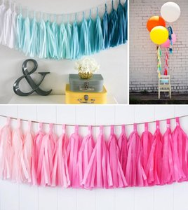 Wholesale- 25cm 10 inch tassels Tissue Paper Flowers Garland Banner bunting flag Party Decor Craft For Wedding Decoration etc
