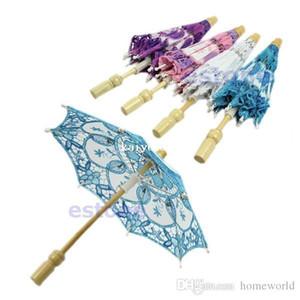 Vente chaude Nouvelle Mariée Brodée Dentelle Parasol De Mariage Partie Décoration Parapluie Livraison Gratuite