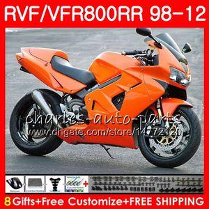 VFR800 para HONDA Interceptor Gloss orange VFR800RR 98 99 00 01 02 03 04 12 90NO48 VFR 800 RR 1998 1999 2000 2001 2002 2003 2004 2012 Carenado