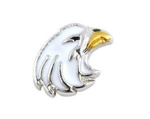 20 Unids / lote Eagle Bird Alloy Encantos Locket Flotante Fit Para DIY Magnética de Cristal Memoria Viva Locket Mejor Regalo