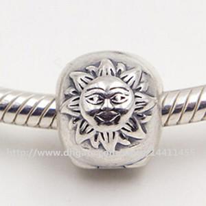 100% S925 Sterling Silver Night Day Clip Perle De Charme Convient Pandora Européenne Bijoux Bracelets Colliers Pendentifs
