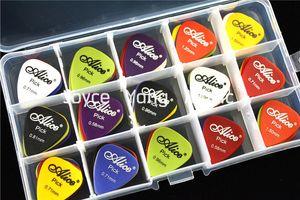 Muita 100pcs Alice Matte Acoustic Guitar Elétrica Escolhas palhetas + 1 grande Escolhas suporte de plástico Caso Box