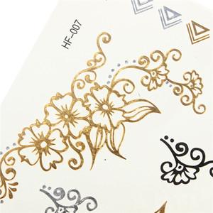 1 foglio di tatuaggi metallici in oro temporaneo con tatuaggi dorati Tatuaggi in argento Bling Jewel order $ 18no track
