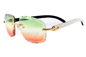 19 Nova tomada de fábrica Jindi alta moda óculos de sol de gravura 8300075 chifres preto e branco natural óculos de sol, tamanho dos óculos: 60-18-140mm