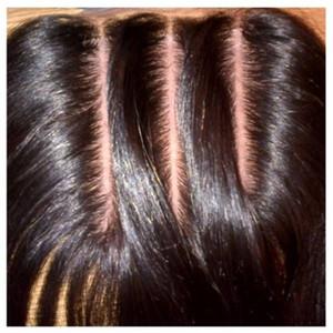 8A Top 3 Way Teil Seide Basis Schließung 4x4 reines brasilianisches Haar Spitze Verschluss Unverarbeitete Haare Schweizer Spitze gebleichte Knoten
