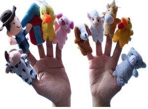 "Giocattoli per bambini Velvet Animal Finger Puppets Story Raccontare ""Old Macdonald Had Farm"" Finger Puppets Nursery Rhyme Toys"
