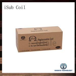 Innokin iTaste iSub Sub Bobine 0.2ohm 0.5ohm 2.0phm Bobines de remplacement pour iSub Atomizer Réservoirs iSub 100% Original