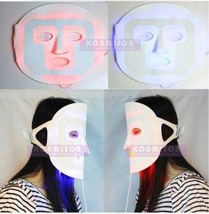 أحدث led قناع الوجه pdt الفوتون قناع الوجه مع لونين redblue مع 19 قطع أضواء led للجلد rejuvenatio المضادة للتجاعيد تبييض