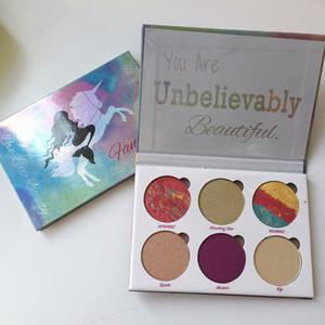 2018 mais novo amor de luxo beleza fantasia paleta de maquiagem você é inacreditavelmente bela highlighter 6 cores da sombra de itens hot-selling dhl