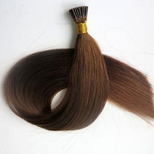 사전 보세 브라질 I tip 휴먼 헤어 익스텐션 50g 50Strands 18 20 22 24inch # 6 / Medium Brown Indian Hair 제품