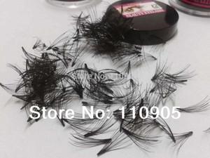 Wholesale-Cluster 100% Extensión de pestañas de cabello humano, suave, pelo humano real Flare Eye Lashes, 10P Flare Crazy Eyelashes, envío gratis