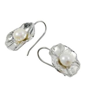 Pendientes colgantes de plata de lujo para aretes de araña de perlas E965 para todas las temporadas Pendientes de perlas Foral en línea