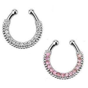 10pcs Crystal Nose Ring 바디 쥬얼리 Nose Hoop 틈새 가짜 보석에 대한 가짜 중절 반지 무료 배송 N0016