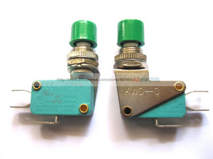 5 Pcs Micro Switch on Off 3P with Lever Big Green Cap KWD
