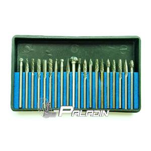 20 unids / set 3 * 3mm Tungsten Steel Rotary File Escultura Cortador de Soldadura de Metal Punto de Molienda Dremel Air Grinder Burr Bits