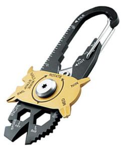 Grille FIXR Sports De Plein Air Portable utilitaire de poche 20 en 1 Multifonction clé tournevis ouvre EDC Survie Porte clés Outils À Main 240 pcs