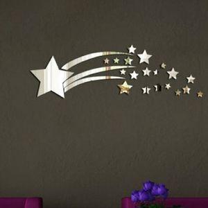 3D Meteoro Espelho Wall Art Decal Adesivo Kids Room Sala de estar Decoração Wall Art Mural Decor Casa Decal Decor