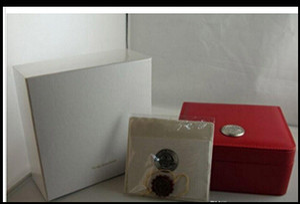 Atacado FRETE GRÁTIS Caixa de Relógio de Luxo New Quadrado caixa Vermelha Para Relógios Tags Cartão de Brochura E Documentos Em Inglês
