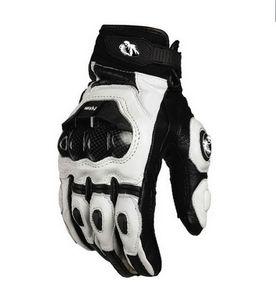 2015 modelos Francia Furygan AFS 6 10 guantes superiores guantes guantes de carreras de motocicleta de cuero con fibra de carbono negro / blanco tamaño M L XL