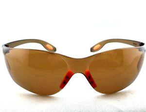 Kahverengi Koruyucu Güvenlik Gözlük Gözlük Çok Amaçlı Gözlük Rahat Rüzgar Toz Çizilmeye Dayanıklı Anti Parlama Korumalı 10 Adet / grup Ücr ...