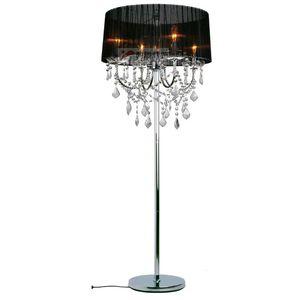 Cristal moderna sala de estar lâmpada de assoalho tecido europeu abajur de cristal pendurado quarto de cabeceira de cristal piso luminárias