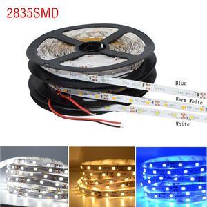Wholesale-10M / lot 2835 SMD LED Strip Light 60LEDs / M 600LED مرنة غير ماء الصمام ضوء الشريط الشريط DC12V مصباح ، أحمر أخضر أزرق