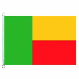 Buena Bandera Benin Banderas Bandera 3X5FT-90x150cm Banderas 100% Polyester país, 110gsm Warp Tela hecha punto Bandera al aire libre