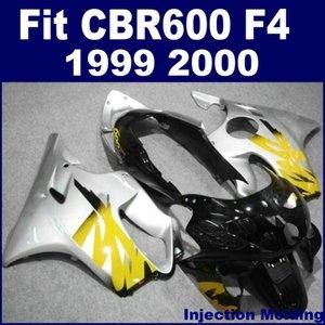 Injection molding for HONDA high grade fairings CBR 600 F4 1999 2000 silver black 99 00 cbr 600 f4 fairing part T6HY