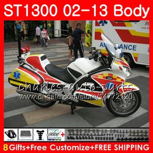 Kit für HONDA STX1300 ST1300 Pan European weiß schwarz 07 08 09 10 11 12 13 93NO29 ST-1300 ST 1300 2007 2008 2009 2010 2011 2012 2013 Verkleidung