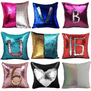 New Sequin Pillow Case Mermaid Federa Glitter reversibile divano magia doppio reversibile scolorimento cuscino ia1010